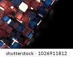3d render abstract background.  ...   Shutterstock . vector #1026911812