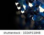 3d render abstract background.  ...   Shutterstock . vector #1026911848