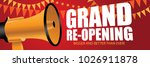 grand re opening background... | Shutterstock .eps vector #1026911878