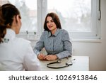 beautiful girl is consulting... | Shutterstock . vector #1026913846