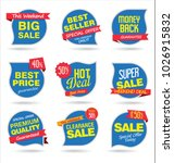 modern sale stickers and tags...   Shutterstock .eps vector #1026915832