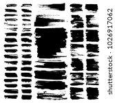 vector paint brush strokes ... | Shutterstock .eps vector #1026917062