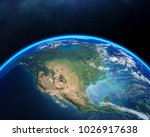 earth viewed from space with... | Shutterstock . vector #1026917638