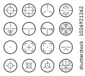 vector image of tactical sights ...