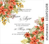 marriage invitation card with...   Shutterstock .eps vector #1026921658