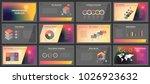 business presentation templates.... | Shutterstock .eps vector #1026923632