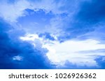 blue sky with curly clouds and...   Shutterstock . vector #1026926362