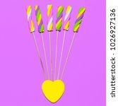 marshmallow candy art.  sweet...   Shutterstock . vector #1026927136