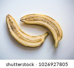 cutted yellow banana on the... | Shutterstock . vector #1026927805