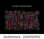 music workshop abstract art... | Shutterstock .eps vector #1026932902