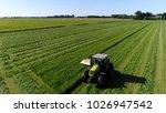 Aerial Photo Farm Scene Tractor ...