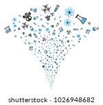 chemistry symbols explosion... | Shutterstock .eps vector #1026948682