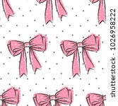 cute seamless pattern with... | Shutterstock .eps vector #1026958222