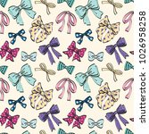 cute seamless pattern with... | Shutterstock .eps vector #1026958258
