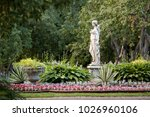 old summer park with green... | Shutterstock . vector #1026960106