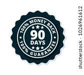 90 days money back illustration | Shutterstock .eps vector #1026961612