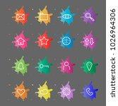 web site internet icons. line... | Shutterstock .eps vector #1026964306