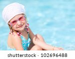 portrait of sweet little girl... | Shutterstock . vector #102696488