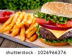 thick and juicy cheese burger...