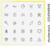 baby care line icon set baby... | Shutterstock .eps vector #1026968848