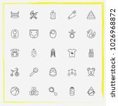 baby care line icon set baby... | Shutterstock .eps vector #1026968872