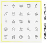baby care line icon set baby... | Shutterstock .eps vector #1026968875