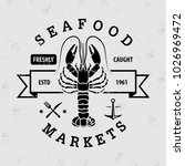 seafood market logo with... | Shutterstock .eps vector #1026969472