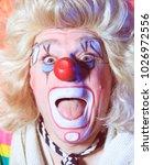 portrait of a clown in the... | Shutterstock . vector #1026972556