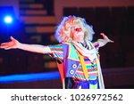 portrait of a clown in the... | Shutterstock . vector #1026972562