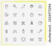 baby care line icon set... | Shutterstock .eps vector #1026973396