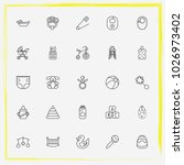 baby care line icon set child... | Shutterstock .eps vector #1026973402