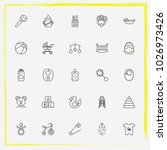 baby care line icon set... | Shutterstock .eps vector #1026973426