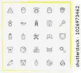 baby care line icon set baby... | Shutterstock .eps vector #1026973462