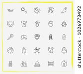 baby care line icon set baby... | Shutterstock .eps vector #1026973492