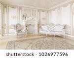 luxury decor with daylight.... | Shutterstock . vector #1026977596