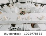 vintage wedding dining | Shutterstock . vector #1026978586