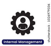 internal management icon.... | Shutterstock .eps vector #1026979336
