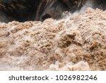 huge waves of muddy waters...   Shutterstock . vector #1026982246