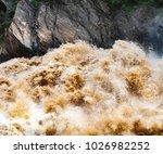 huge waves of muddy waters...   Shutterstock . vector #1026982252