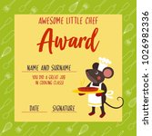 awesome little chef award. kids ... | Shutterstock .eps vector #1026982336