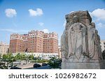 blocks and statue from bronx... | Shutterstock . vector #1026982672