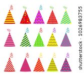 birthday party hat flat vector... | Shutterstock .eps vector #1026983755