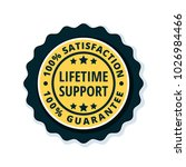 lifetime support guarantee...   Shutterstock .eps vector #1026984466