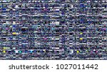 glitch background. computer... | Shutterstock . vector #1027011442