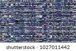 glitch background. computer... | Shutterstock . vector #1027011442