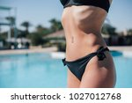 belly of fit and sexy young... | Shutterstock . vector #1027012768