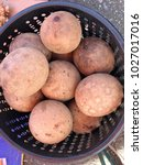 Small photo of Borneo weird fruit locally known as Bambangan or scientifically call as Mangifera pajang