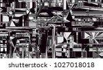 glitch background. computer... | Shutterstock . vector #1027018018
