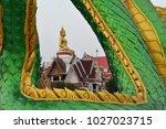 Sittiing Buddha Statue Through...