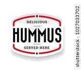 hummus arabic cuisine sticker | Shutterstock .eps vector #1027033702